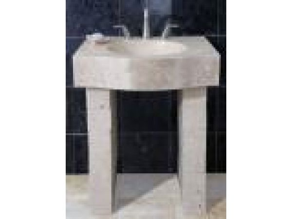 White Sands Vanity Block & Farmsink Style Console