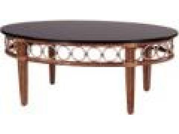 Vendфme Cocktail Table with Black Granite Top