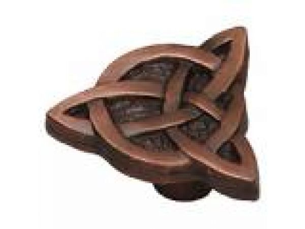 Celtic Knot Knob in Rust