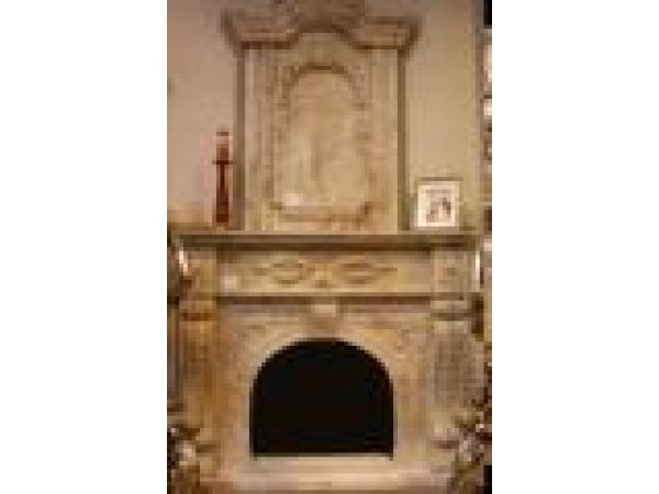 Marble Fireplace Mantels - C7201 Travertine