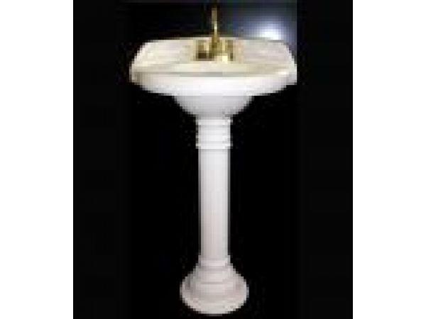 Corner Sink with Pedestal
