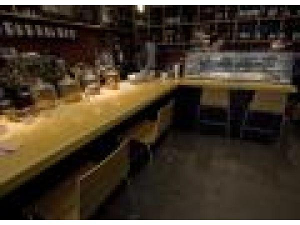 30 ft. counter, wine bar in Manhattan