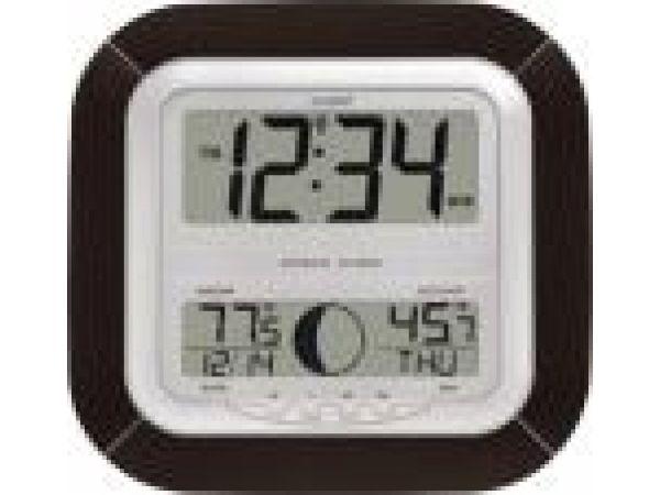 WS-8418U-ITAtomic Digital Wall Clock with Moon Phase