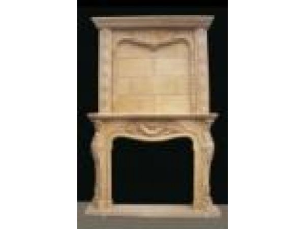 Marble Fireplace Mantels - F7039 Yellow Marble