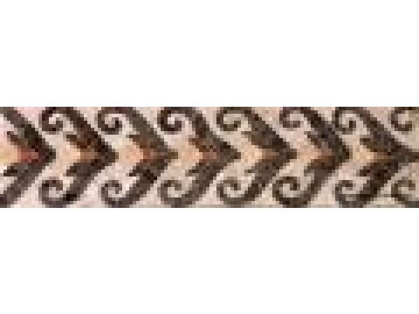 Stone Mosaics-3.5x13.5 V Spiral X