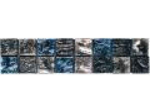 VG123 Silver/Mica/Blue Foil Mosaic Liner Bar