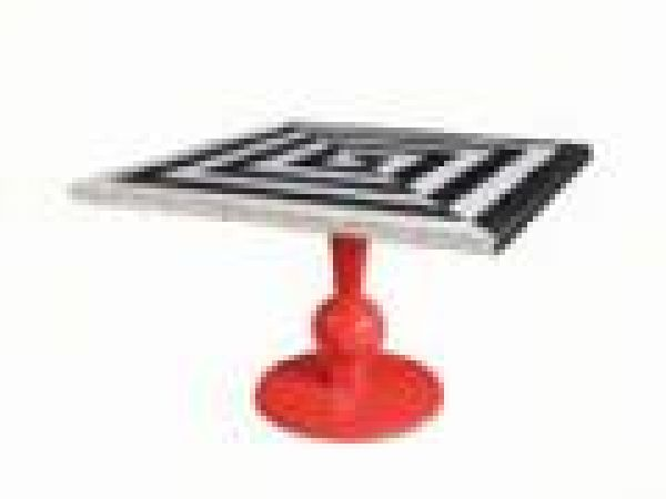 Bellechase Black and White table (Flame Finish)