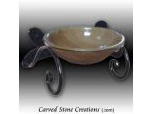 ABS-100, ''Semplice'' Wrought Iron Wall Mount Vessel Sink Stand