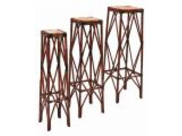 Rattan Nesting Plant Stands-set of three