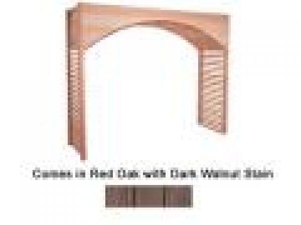 Red Oak with Dark Walnut Stain Archway