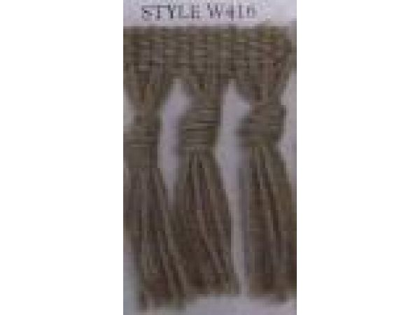 Style W416 Small Knotted Wool Fringe