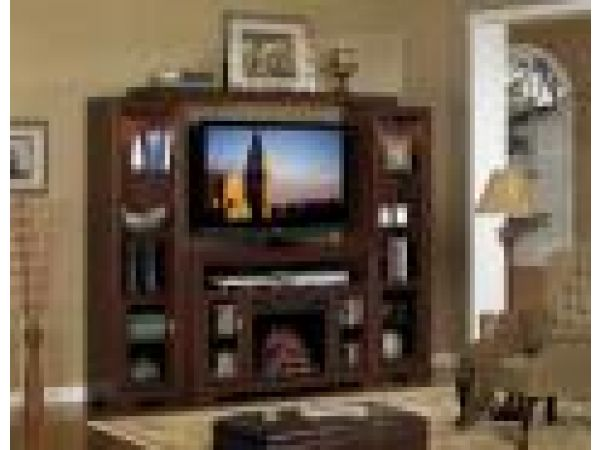Palisades Wall Entertainment w/ Electric Fireplace