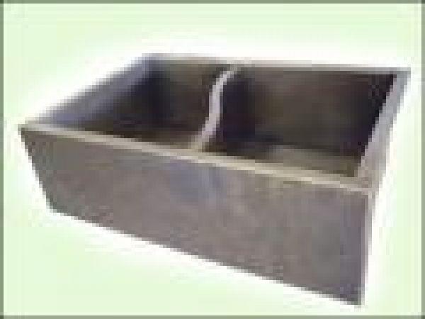 Nickel Silver S-Divider Farmhouse Sink
