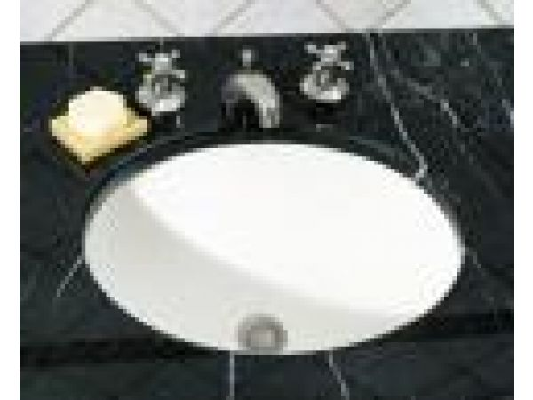 Oval Undercounter Basin with Center Drain