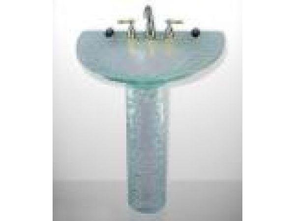 Half Moon Pedestal Sink