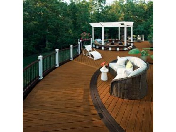 Transcend Decking in Spiced Rum and Lava Rock