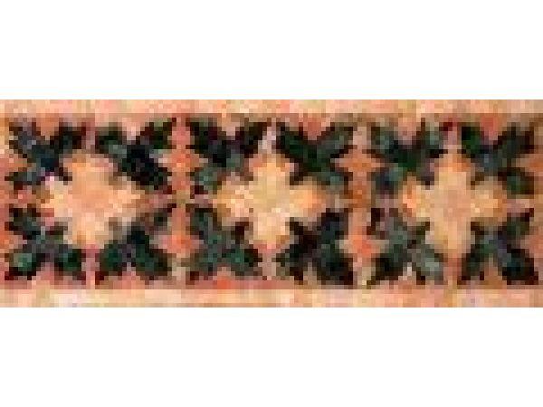 Stone Mosaics-6x15 Leaf & Berry 025