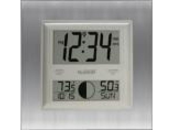 WS-8318UAtomic Digital Wall Clock with Moon Phase