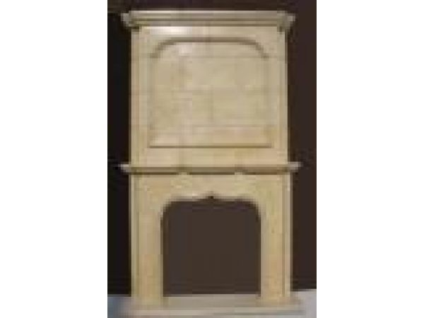 Marble Fireplace Mantels - F6881 Egyptian Beige