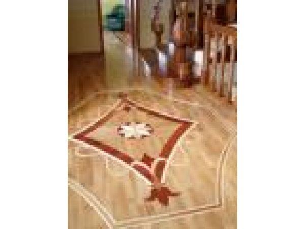 Savoy wood floor inlay