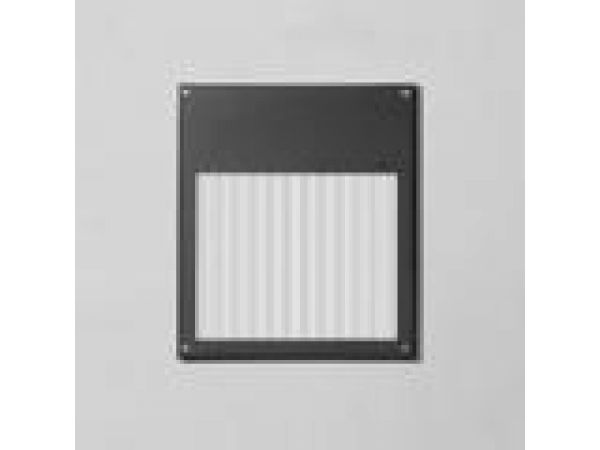 Recessed wall with linear spread diffuser