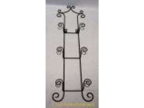 Wrought Iron 3-Tier Wall Rack