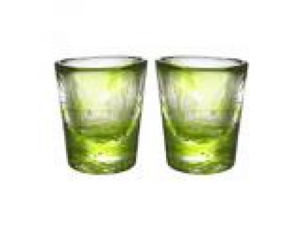 Mini Mine Glass Lime Pair
