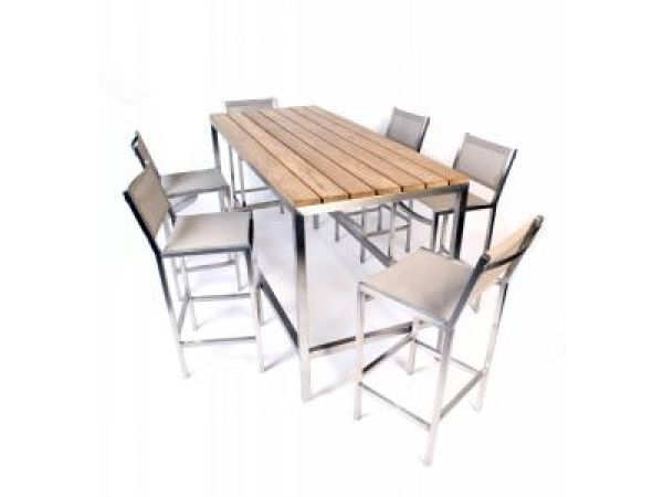Blue Leaf and MAMAGREEN full bar table with chairs