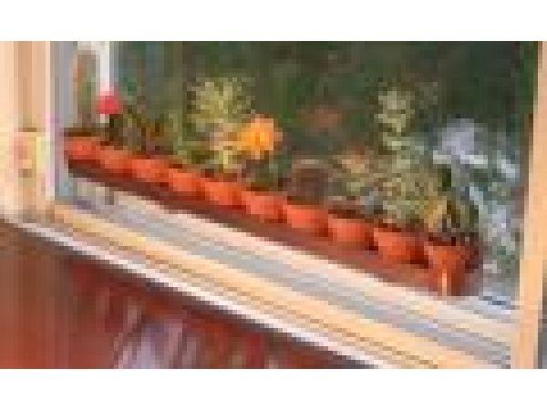 Window Mounted Copper Garden Pot Trough