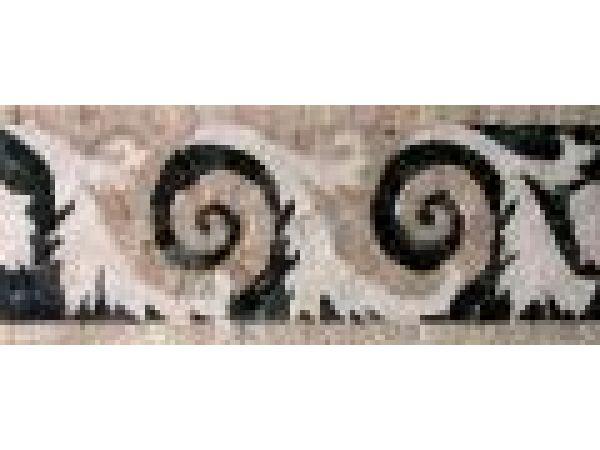 Stone Mosaics-5.5x13 Spiral Leaf HH
