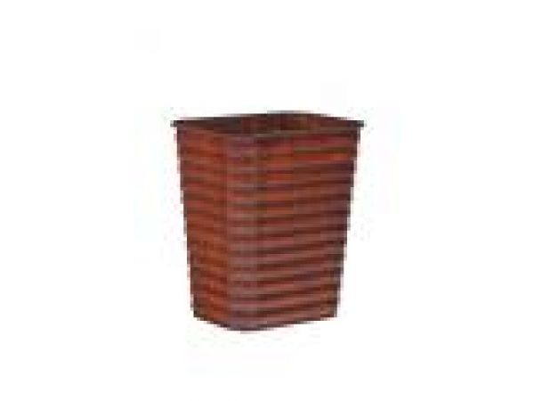 Ribbed Pine Wastebasket-Large