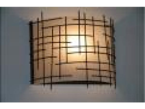 Wire Shaded Sconce
