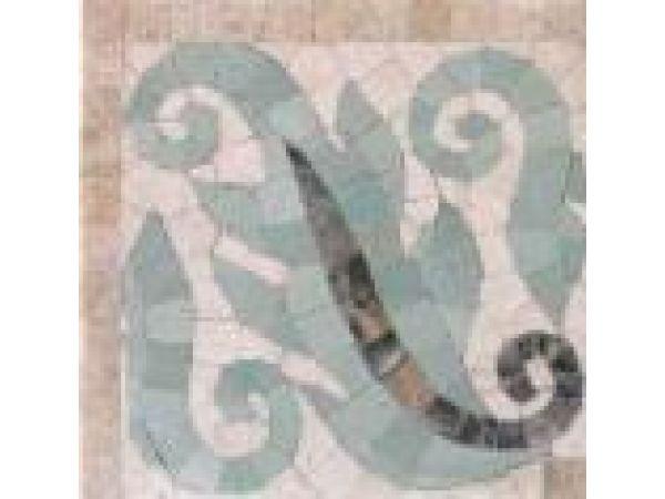 Stone Mosaics-5.5x5 Leaflets 022 Corner