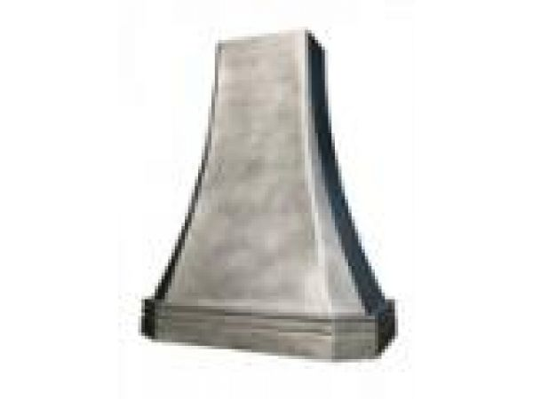 Tall Pewter French Sweep Hood Mont St. Michel