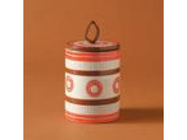 Sgraffito Small Canister