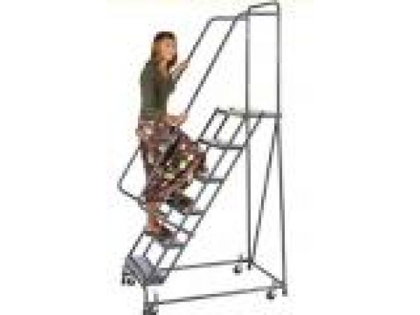 Standard Rolling Ladders with Spring Loaded Caster