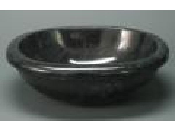Sinks Gallery Black Marble Thick Oval Basin Round Rim