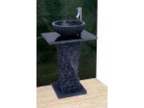 Black Limestone Twist Pedestal