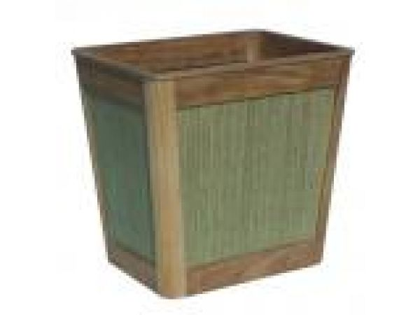 St. Lucia Wastebasket-Sage Color