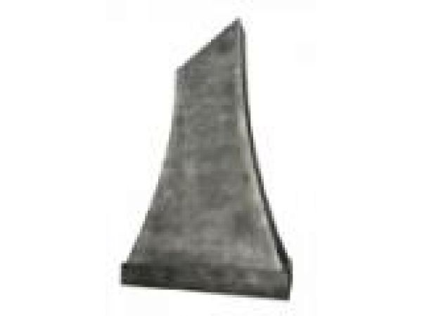 Tall Reverse Hammered Zinc Hood Swept Curves