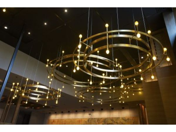 Custom lighting at new P.F. Chang's location