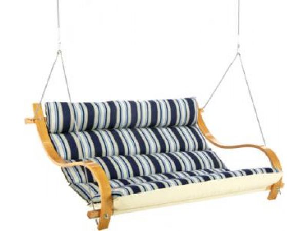 Hamptons Stripe Deluxe Cushioned Double Swing