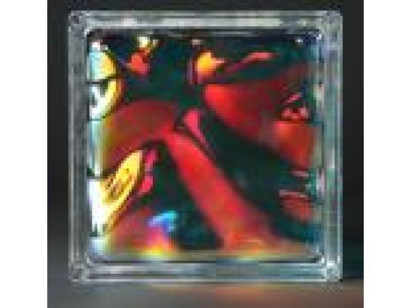 Color Mirage Glass Block
