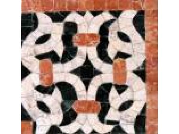 Stone Mosaics-5.5x5.25 French Harp 024 Corner