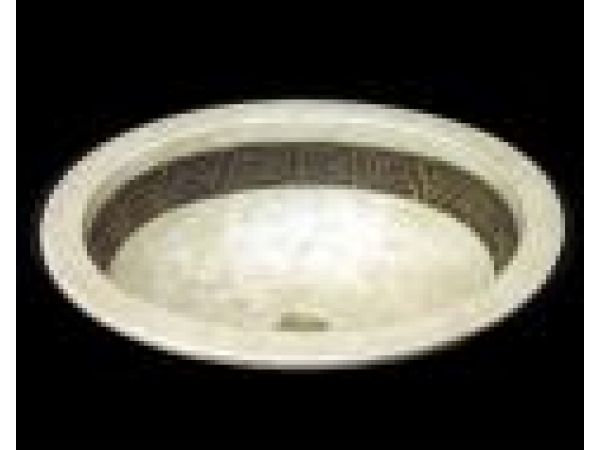 Oval Basin - Carved Greek Key Classic