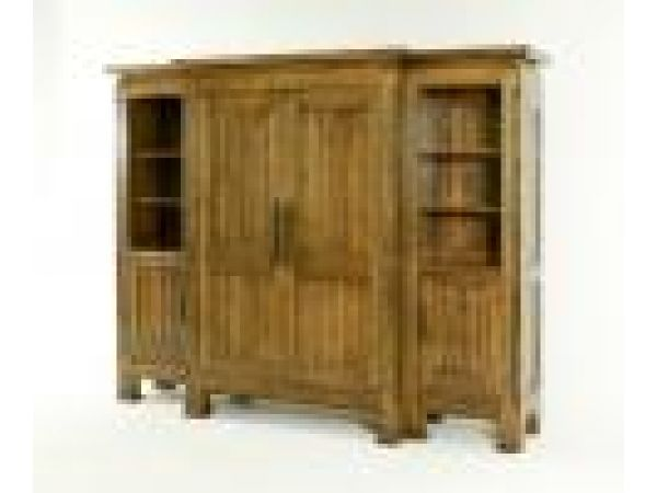 7719 Armoire with Side Sections
