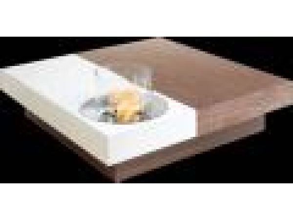 Ground Floor Coffee Table with GlassFire'© Cylinder