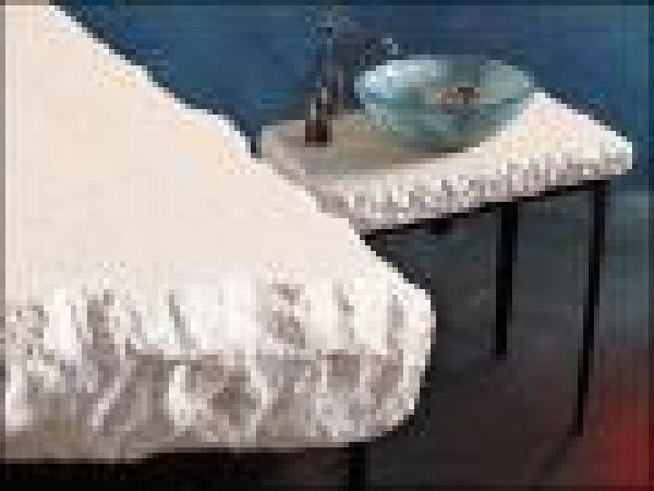 French Limestone Rough - Hewn Countertop