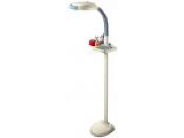 Verilux' HappyEyes' EasyFlex' Floor Lamp & Tray