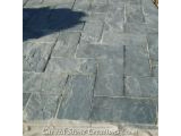 PAV-S003-0612, ''Irish Moss'' Green Slate Patio Paver